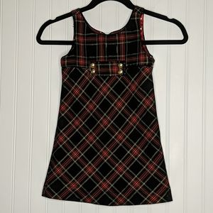 The Childrens Place Plaid Holiday Christmas Dress